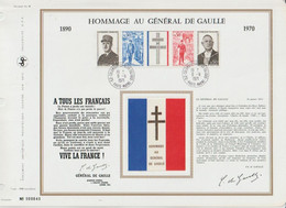 """Hommage Au GENERAL De GAULLE 1890 / 1970 Exemplaire N° 000040 """" Oblitération Colombey-les-deux-églises - Documents Of Postal Services"""