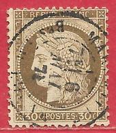 France N°56 Cérès 30c Brun (MARSEILLE 6 MAI 78) 1872 O - 1871-1875 Ceres