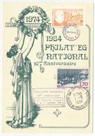 FRANCE - CP Depuis Ste TULLE 1/9/1984 - Vignette MARCEL PAUL - Philateg National - Brieven
