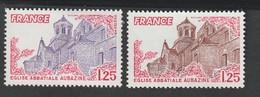 Variétés - 1978  -  N°2001 - Couleur  Violette  -      Neuf Sans Charnière - Kuriositäten: 1970-79 Ungebraucht