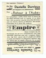 Cinema EMPIRE    Retour à L'aube  Met Danielle Darrieux - Antwerpen