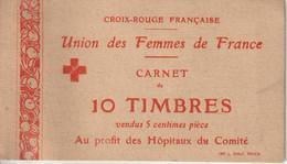 Carnet De 10 Vignettes Croix Rouge Union Des Femmes De France Vignette ** Bon état - Blocs & Carnets