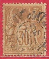 France N°80 Sage 30c Brun-jaune (type II N Sous U) 1881 O - 1876-1898 Sage (Type II)