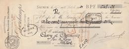 Lettre Change 27/10/1921 DESCHAMPS Bijouterie Religieuse Or Arg SAUMUR Maine Et Loire  Cachet Fiscal Ordre Banque France - Bills Of Exchange