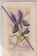 Carte Brodée , Gaufrée ,avec Ajout ; Bonne Fête Sainte Léa - Vornamen