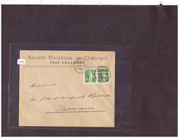 VALLORBE - SOCIETE ELECTRIQUE DU CHATELARD - Covers & Documents