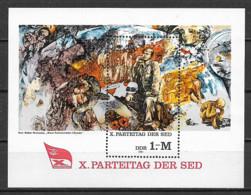 GERMANIA DEMOCRATICA DDR FOGLIETTI 1981 CONGRESSO PARTITO SOCIALISTA (SED) UNIF. BF 63 MNH XF - FDC: Hojas