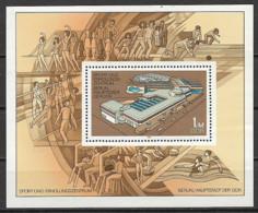 GERMANIA DEMOCRATICA DDR FOGLIETTI 1981CENTRO SPORTIVO E RICREATIVO DI BERLINO UNIF. BF 64 MNH XF - FDC: Hojas