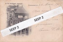 """P.K. GRAMMONT / GERAARDSBERGEN """"Huis Dokter Van Bockstaele - Chirurgie"""" (gelopen 1901) (2 Scans) Zeldzaam - Geraardsbergen"""