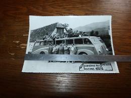 Photo 13x17cm Car Autocar Excursion Lourdes 1952 - Sin Clasificación