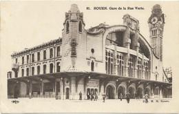 CPA - Edit. M. M. Rouen - 81 - ROUEN - Gare De La Rue Verte - Stations Without Trains