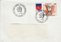 60 ANS ARMEE TCHECOSLOVAQUE à DARNEY VOSGES 1978 - Gedenkstempels