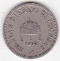 Hongrie 10 Filler 1894 KB Franz Joseph I,  En Nickel, KM# 482 - Hungary