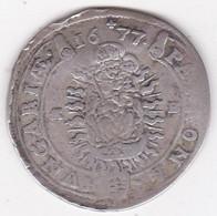 Hongrie 15 Krajczar 1677 KB Léopold I, En Argent,  KM# 175 - Hungary