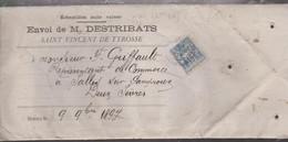 ECHANTILLON SANS VALEUR Avec N°101 De St- DE-TYROSSE Pour SALLES - 1877-1920: Semi-moderne Periode