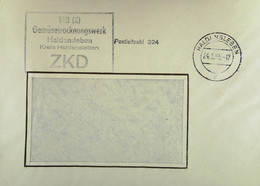 """Fern-Brief Mit ZKD-Kastenstempel """"VEB Gemüsetrocknungswerk Haldensleben Kreis Haldensleben"""" Vom 24.2.65 Nach Bautzen - Dienstpost"""
