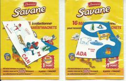 -- LOT DE 2 MAGNETS SAVANE BROSSARD CANADA - Magnets
