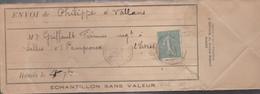 ECHANTILLON SANS VALEUR Avec N°130 De VALLANS Pour SALLES - 1877-1920: Semi-Moderne
