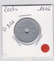 25cts Lindauer  1945  SPL - E. 20 Centesimi