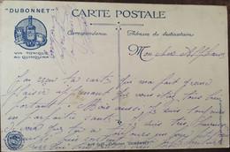 """CPA, Publicité Dubonnet-Quinquina, Militaria """"Tir Au Pigeon"""", Collection Dubonnet 1914-1915, écrite, Imp Verger - Advertising"""