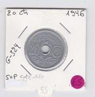 20 Cts Lindauer 1946  SUP - E. 20 Centesimi