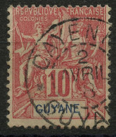 Guyane (1892) N 44 (o) - Oblitérés