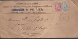 ECHANTILLON SANS VALEUR Avec N°110 + 129 De PARIS Pour NIORT - 1877-1920: Semi-moderne Periode