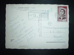 CP TP YT GERARD PHILIPPE 0,50 OBL.MEC.17-12 1961 CLERMONT FD GARE PUY DE DOME (63) Pour BEYROUTH LIBAN - 1961-....