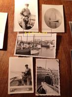Lot De Photos Sur Les Bateaux Et La Pêche - Anonyme Personen