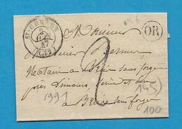SEINE ET OISE - St CHERON Pour Mamers (Sarthe). CàD Type 15 + Taxe Tampon 2. 1847 - 1801-1848: Precursors XIX