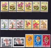 South Kasai 1961 Lot Of Stamps Mi 1-10, 12-15 MNH **, Mi 20-22 MH * - South-Kasaï