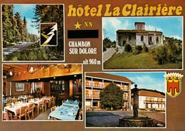 Dep 63 , Cpm CHAMBON Sur DOLORE , Hotel La Clairière , Alt. 960 M. , Multivues (23664) - Sonstige Gemeinden