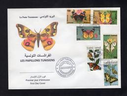 Tunisia/Tunisie 1994  - FDC - Fauna - Tunisian Butterflies - Papillons Tunisiens - Tunisia
