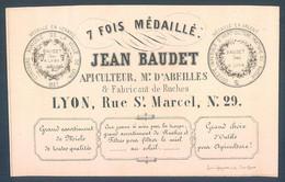 Apiculture Apiculteur Fabriquant De Ruches Jean Baudet Lyon Rue St Marcel - Advertising