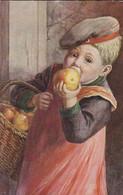 AK Rettig - Guten Appetit! - Kind Mit Apfel - Künstlerkarte (53568) - Altre Illustrazioni