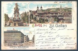 SG Gruss Aus ST GALLEN Hotel Walhalla - SG St-Gall