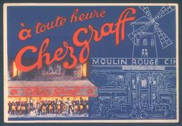 75 PARIS Publicité à Toute Heure Chez Graff Moulin Rouge - Advertising