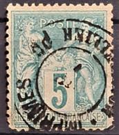 FRANCE 1876 - Canceled - YT 75 - 5c - 1876-1898 Sage (Tipo II)