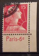 France N° 1011 Type Muller. Oblit. 15 F Rouge. Timbre De Carnet. Bande Publicitaire Publicité Pub. - Publicidad