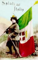 """MILITARI-""""Saluti Dall'Italia.Vg Il 3.2.1913-Originale Al 100%- - Otros"""