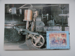 CARTE MAXIMUM CARD LE FARDIER DE NICOLA JOSEPH CUGNOT 1771 PREMIER VEHICULE AUTOMOBILE A VAPEUR POLYNESIE FRANCAISE - Automobili