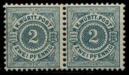 WÜRTTEMBERG Nr 60 Postfrisch WAAGR PAAR X71128A - Wuerttemberg