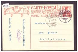 DISTRICT D'ORBE - VALLORBE - ENTIER POSTAL - GANZSACHE - TB - VD Vaud