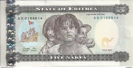 ERYTHREE 5 NAFKA 1997 UNC P 2 - Eritrea