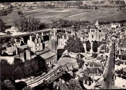 Dep 41 , Cpsm En Avion Au Dessus De St AIGNAN Sur CHER , 7 , Le Chateau Et L'Eglise (23808) - Saint Aignan