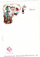 2 Cartes Menu   Champagne Edouard Besserat Imp. Camis - Champagne & Sparkling Wine