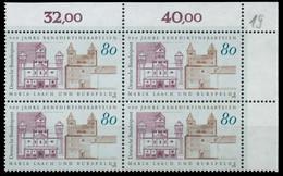 BRD 1993 Nr 1671 Postfrisch VIERERBLOCK ECKE-ORE X8635FE - Ungebraucht
