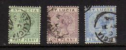 Sainte-Lucie (1883-98) - Victoria - Obliteres - St.Lucia (...-1978)