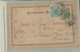 ENTIERS POSTAUX    Entier Postal à 5 Heller. Timbre 5 Heller  Expédié  Portschach  à PARIS (DEC 2020 219) - Covers & Documents