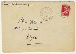 """FRANCE / ALGÉRIE 1943 CàD Cercle Pointillé """"ASSI-BOU-NIF / ORAN"""" (Beau De Distribution) Sur LSC (Prisonniers De Guerre) - Cartas"""